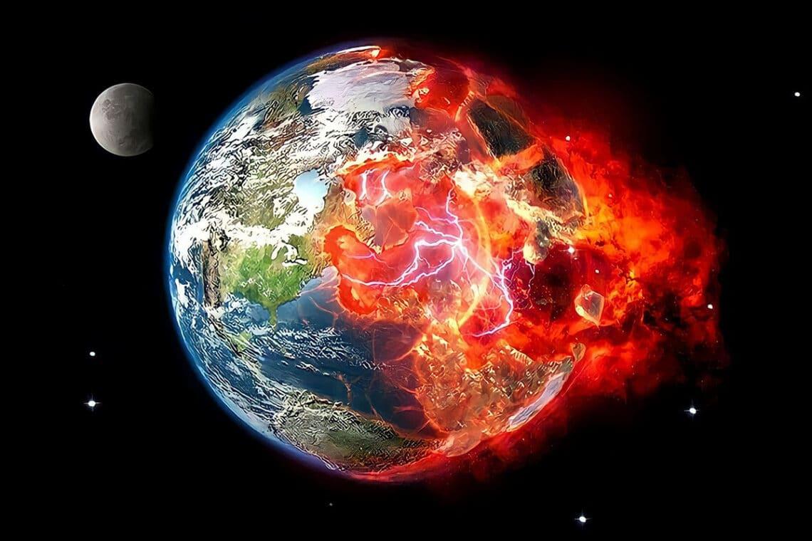 Planeta em chamas