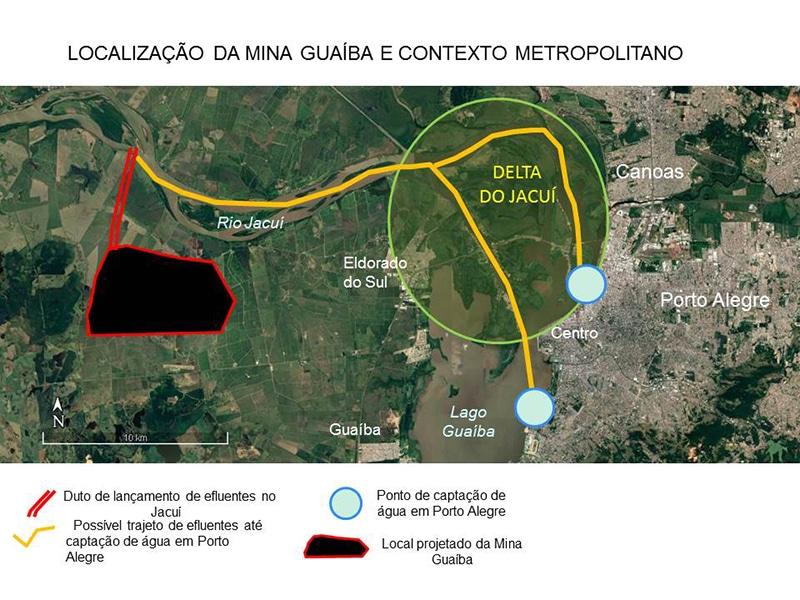 Mapa Mina Guaíba